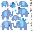大象 程式化 矢量 28214078