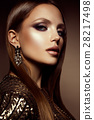 Make up. Glamour portrait of beautiful woman model 28217498