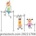 單槓 鐵棒 孩子 28221768