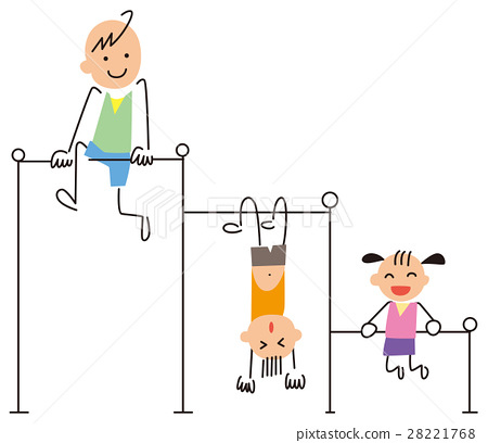 Children playing with iron bars 28221768