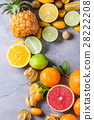 Variety of citrus fruits 28222208