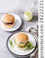 Vegan burgers with avocado, beetroot and sauce 28222231