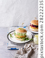 Vegan burgers with avocado, beetroot and sauce 28222235