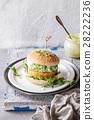 Vegan burgers with avocado, beetroot and sauce 28222236