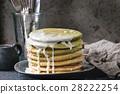 Ombre matcha pancakes 28222254