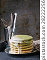 Ombre matcha pancakes 28222256