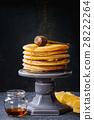 Ombre turmeric pancakes 28222264