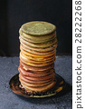 Variety of ombre pancakes 28222268