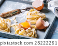 Fresh homemade pasta tagliatelle 28222291