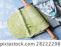 Fresh homemade green dough for pasta 28222298