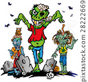 fun zombie cartoon set 28222669