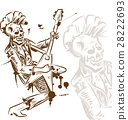 punk rock guitarist hand draw 28222693
