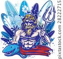poseidon surfer surfboard 28222715