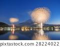 가와구치 호수, 불꽃 놀이, 후지산 28224022