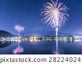 가와구치 호수, 불꽃 놀이, 후지산 28224024