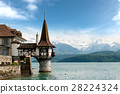 Oberhofen castle in Switzerland. 28224324