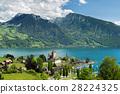 Spiez castle on lake Thun in Bern, Switzerland. 28224325