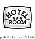Color vintage hotel emblem 28224544