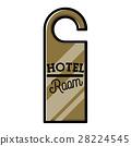Color vintage hotel emblem 28224545