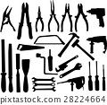 Tools silhouettes collection 28224664
