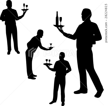 Waiters silhouettes 28224815