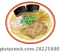 cold chinese noodles, slices of roast pork, meat 28225690