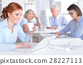 businesspeople, four, office 28227113