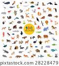 animals, set, vector 28228479