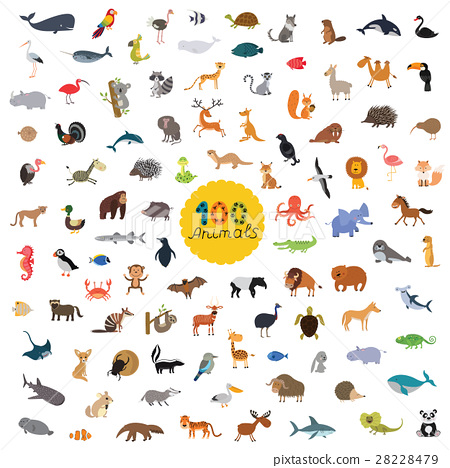 set a hundred animals on the planet 28228479