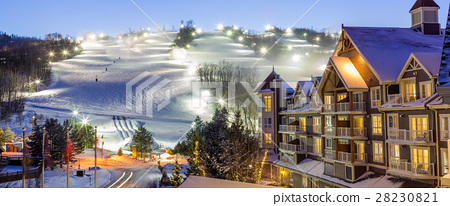 Blue Mountain Village in winter 28230821