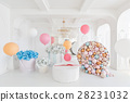 Boxes with flowers and a large pudrinitsa with 28231032