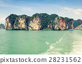 cliff island ocean 28231562