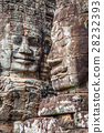 Stone murals and sculptures in Angkor wat 28232393