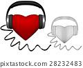 heart with headphones 28232483