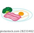 bacon, eggs, sunny 28233462