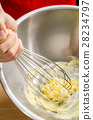 Beat the butter in a mixing bowl 28234797