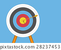 archery target with an arrow 28237453