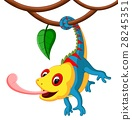 Cute Chameleon cartoon 28245351