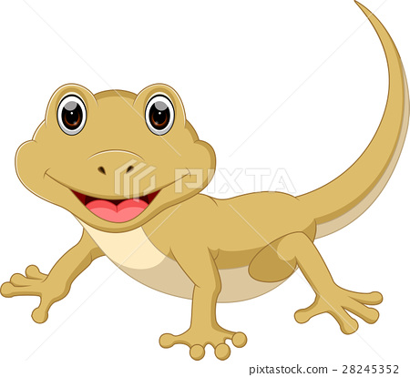 Cute lizard cartoon 28245352