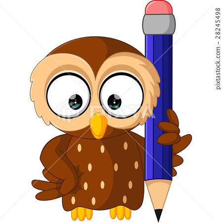 cute owl cartoon 28245498