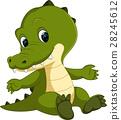 Cute crocodile cartoon 28245612