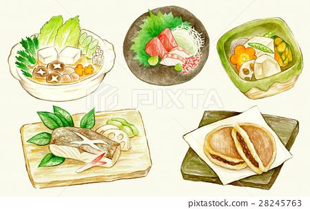 Japanese food Illustration Summary 28245763