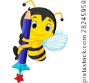 bee holding pencil 28245959