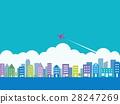cityscape, airplane, plane 28247269