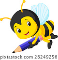 bee holding pencil 28249256