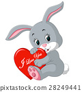 rabbit cartoon with love 28249441