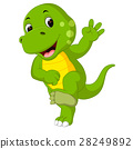 Cute dinosaur cartoon 28249892