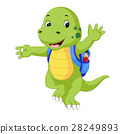 Cute dinosaur with backpack 28249893