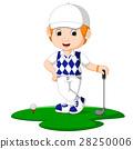 Golfer Man Cartoon 28250006