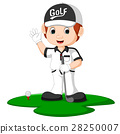 Golfer Man Cartoon 28250007